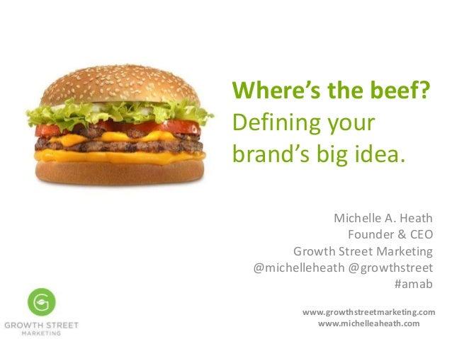 Michelle A. Heath Founder & CEO Growth Street Marketing @michelleheath @growthstreet #amab www.growthstreetmarketing.com w...