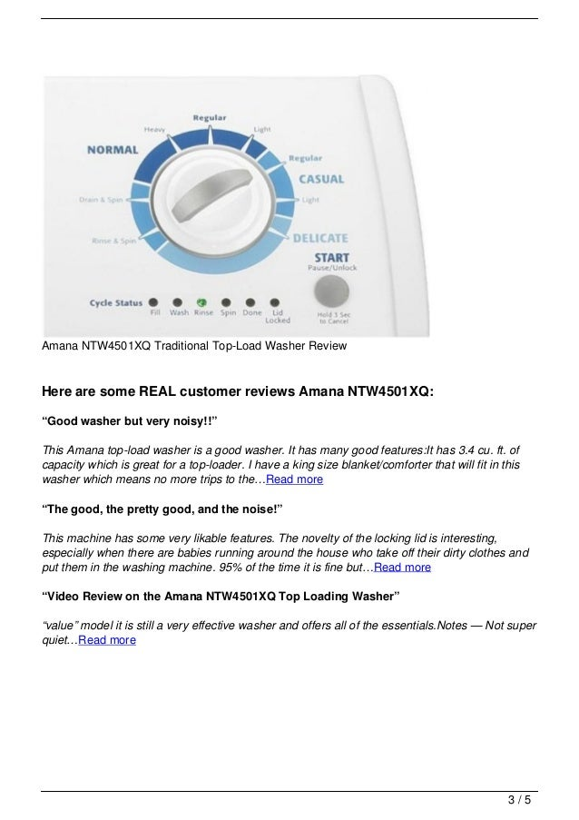 Amana Ntw4501xq Traditional Top Load Washer Review
