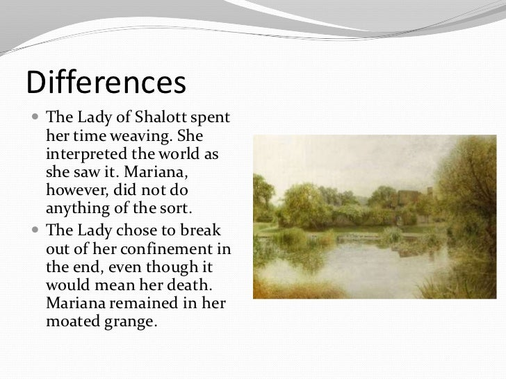 essay lady of shalott Discussion of themes and motifs in alfred, lord tennyson's the lady of shalott enotes critical analyses help you gain a deeper understanding of the lady of shalott so you can excel on your essay.