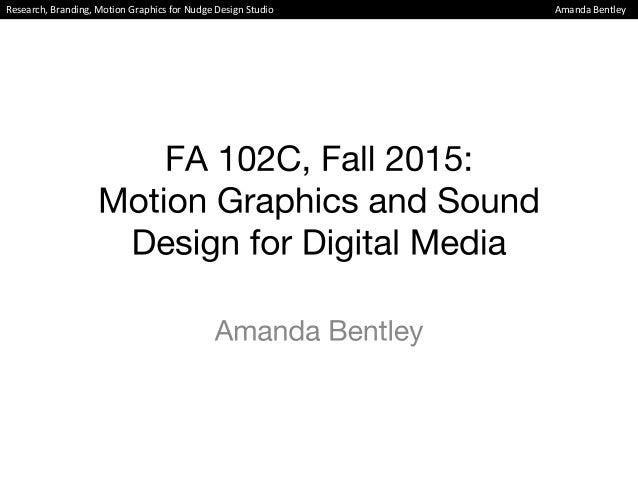 Research, Branding, Motion Graphics for Nudge Design Studio Amanda Bentley