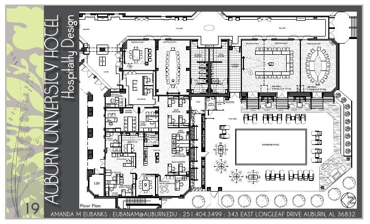 9118; 20. AUBURN UNiVERSiTY HOTEL Hospitality Design 19 Floor Plan ...