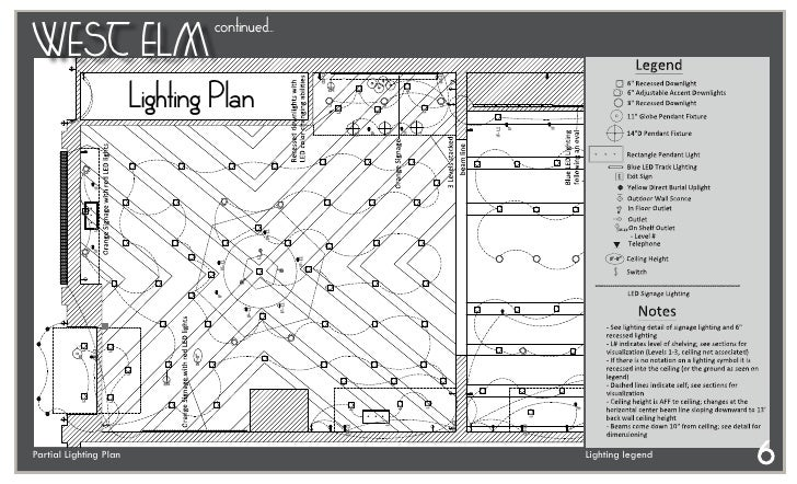 AL 36832 7 Continued WEST ELM Lighting Plan