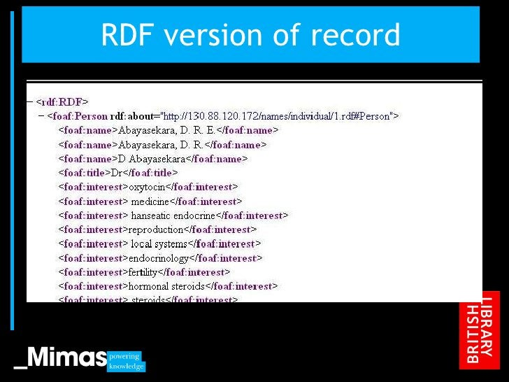 RDF version of record JISC Conference, 2010