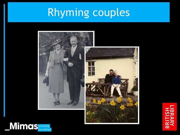 Rhyming couples JISC Conference, 2010
