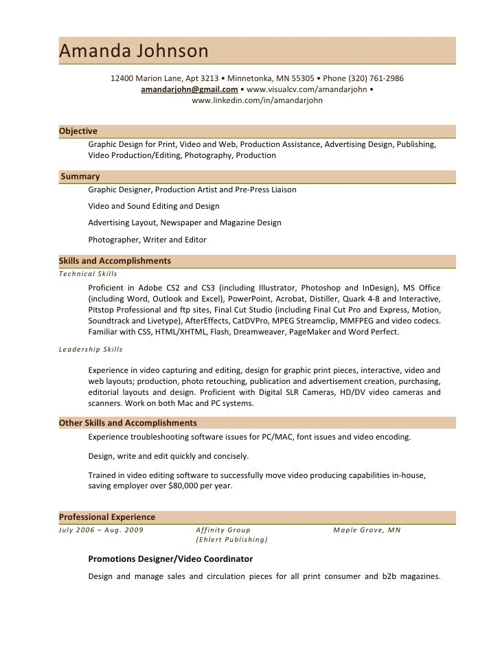 graphic design resume experience - Graphics Production Artist Resume