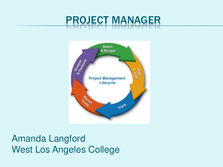PROJECT MANAGERAmanda LangfordWest Los Angeles College