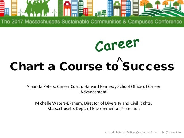 Chart a Course to Success Amanda Peters | Twitter @acpeters #masustain @masustain Amanda Peters, Career Coach, Harvard Ken...