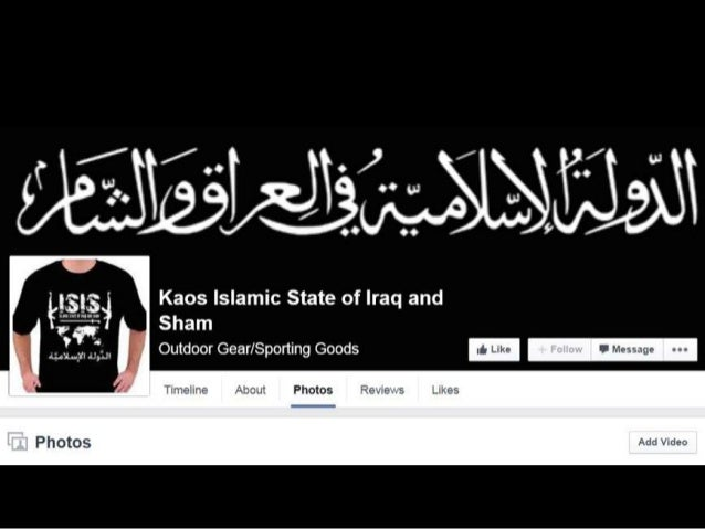 "c f.  ""v J. ""   Kaos Islamic State of Iraq and  Sham Outdoor Gear/ Sporting Goods                Add V dec"