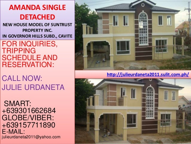 http://julieurdaneta2011.sulit.com.ph/ AMANDA SINGLE DETACHED NEW HOUSE MODEL OF SUNTRUST PROPERTY INC. IN GOVERNOR HILLS ...