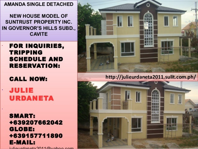 http://julieurdaneta2011.sulit.com.ph/ AMANDA SINGLE DETACHED NEW HOUSE MODEL OF SUNTRUST PROPERTY INC. IN GOVERNOR'S HILL...