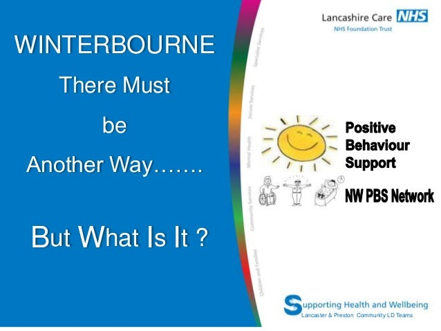 WINTERBOURNE     There Must                beAnother Way…….But What Is It ? Network Name                     Lancaster & P...