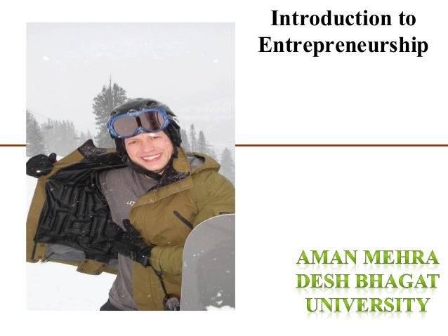 1-1 Introduction to Entrepreneurship