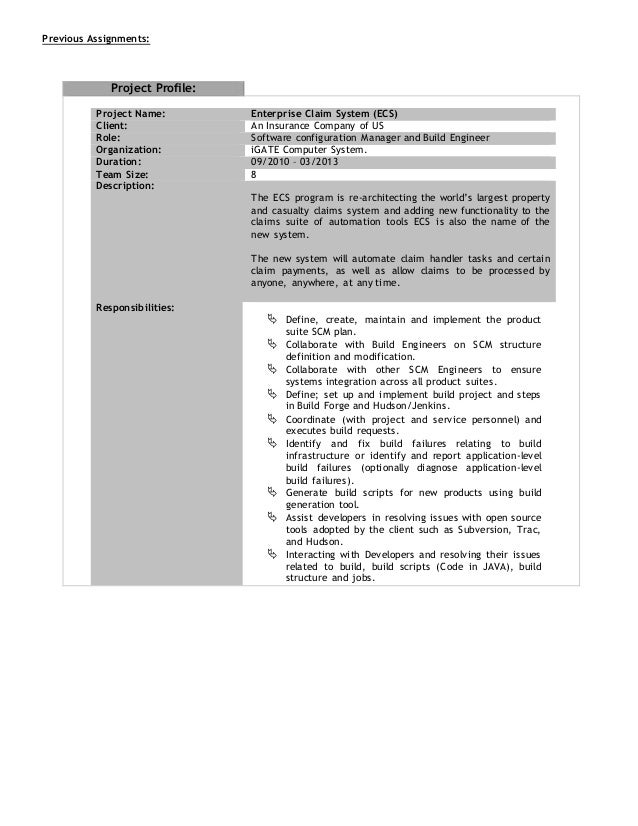 SlideShare  Build And Release Engineer Resume