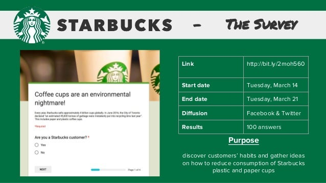 survey about starbucks The survey found multiple concerns for starbucks baristas, including  unpredictable work weeks, inconsistent hours, and obstacles to taking sick.