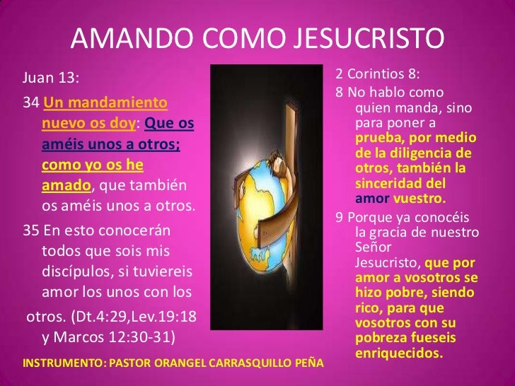 AMANDO COMO JESUCRISTOJuan 13:                                        2 Corintios 8:                                      ...