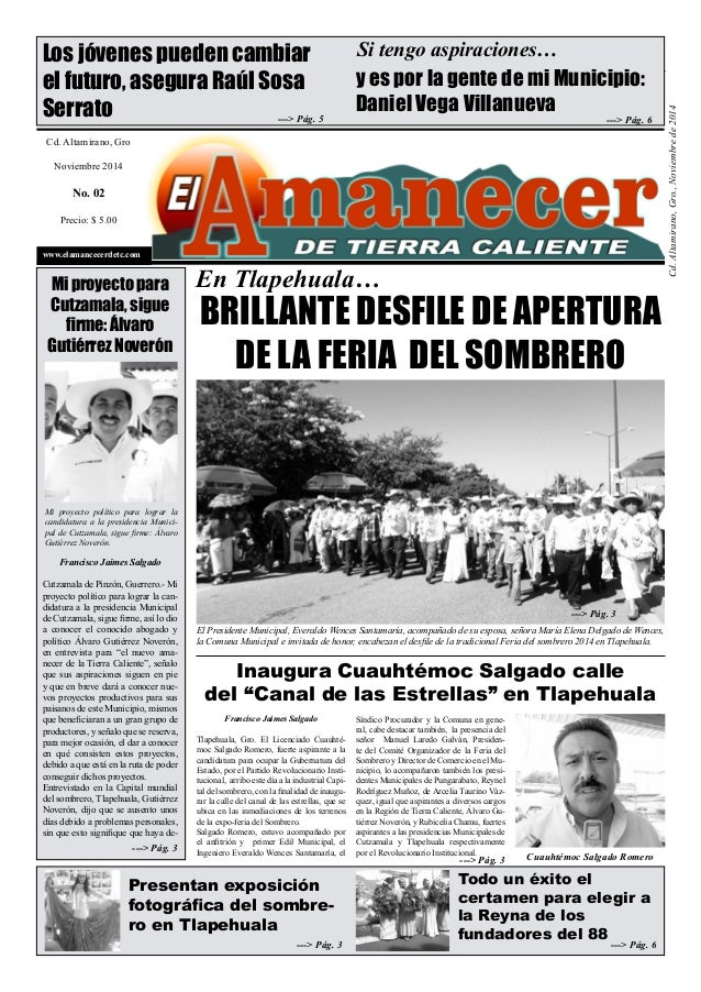 1  Cd. Altamirano, Gro., Noviembre de 2014  Los jóvenes pueden cambiar  el futuro, asegura Raúl Sosa  Serrato  Cd. Altamir...