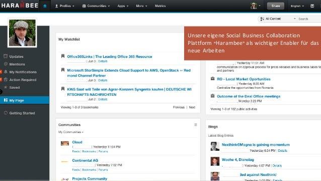 "October 15© Beck et al. Services 16 Unsere eigene Social Business Collaboration Plattform ""Harambee"" als wichtiger Enabler..."
