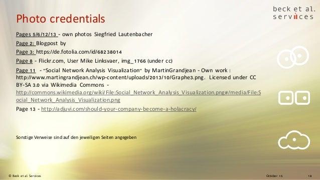 October 15© Beck et al. Services 18 Photo credentials Pages 5/6/12/13 - own photos Siegfried Lautenbacher Page 2: Blogpost...