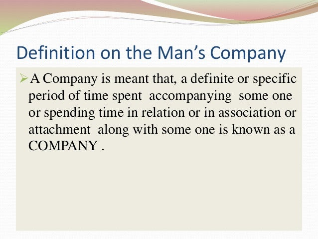 a man is known by his company