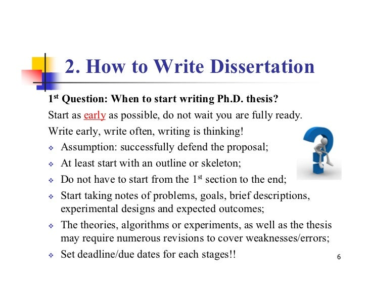 Writing a phd dissertation