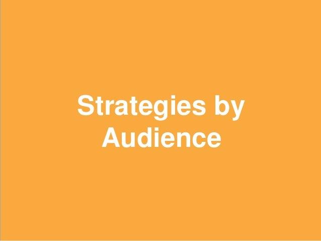 18 Strategies by Audience