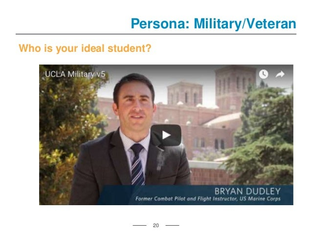 Who is your ideal student? 20 Persona: Military/Veteran