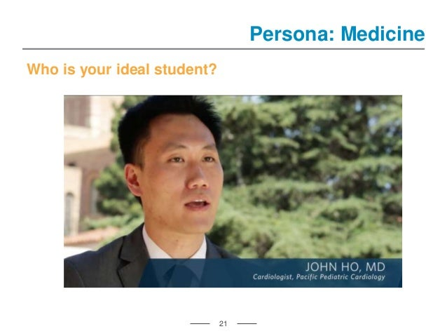Who is your ideal student? 21 Persona: Medicine
