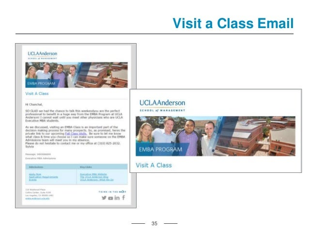 35 Visit a Class Email