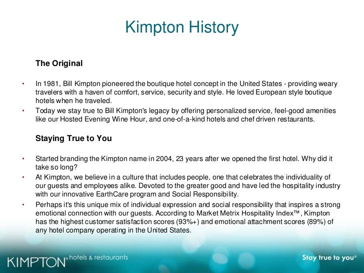 kimpton hotels earthcare program essay Grademax is a new testing and remediation program that gives instructors control over their teaching and provides students customized  essay writing chapter 4:.