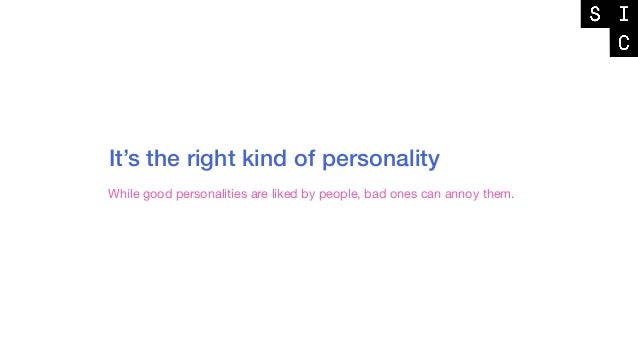THE BALANCE OF PERSONALITY