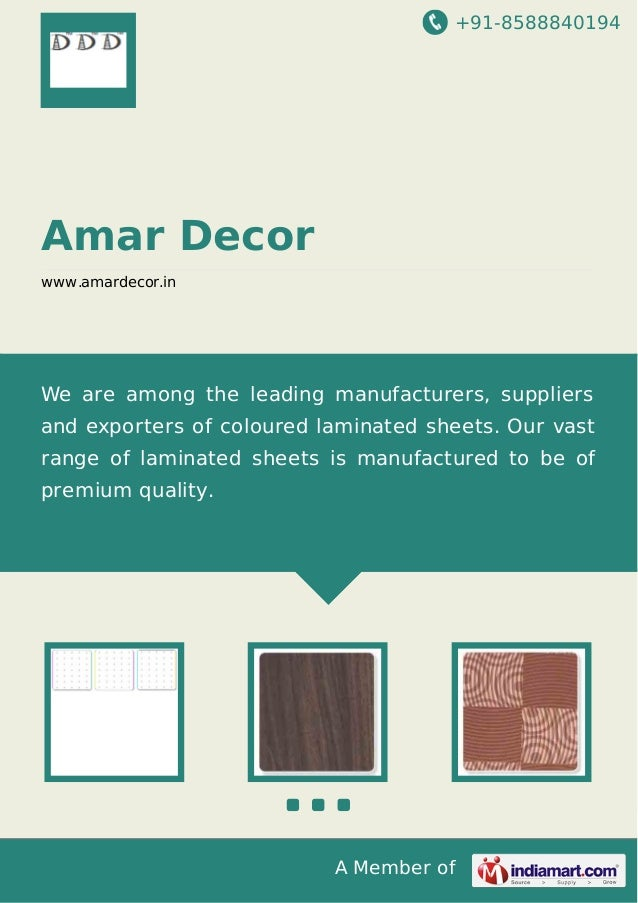 +91-8588840194 A Member of Amar Decor www.amardecor.in We are among the leading manufacturers, suppliers and exporters of ...