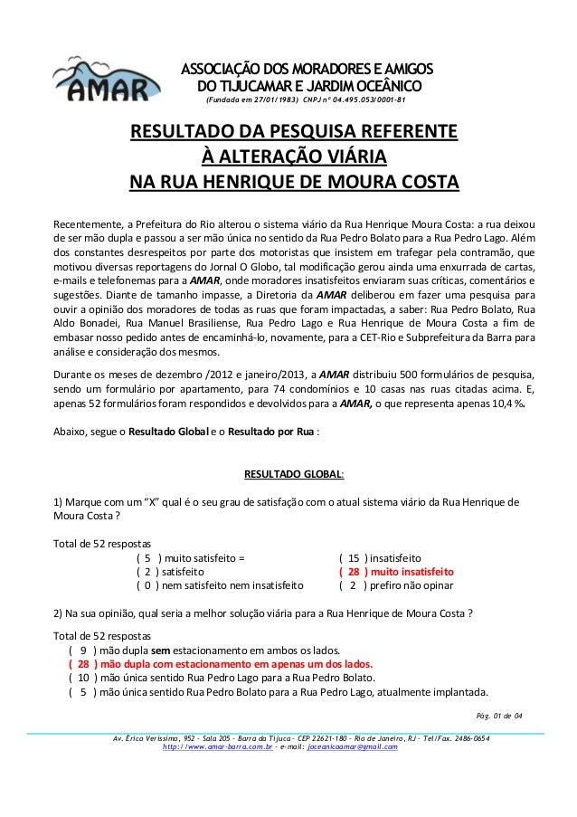 ASSOCIAÇÃO DOS MORADORES E AMIGOS DO TIJUCAMAR E JARDIM OCEÂNICO (Fundada em 27/01/1983) CNPJ nº 04.495.053/0001-81 Av. Ér...