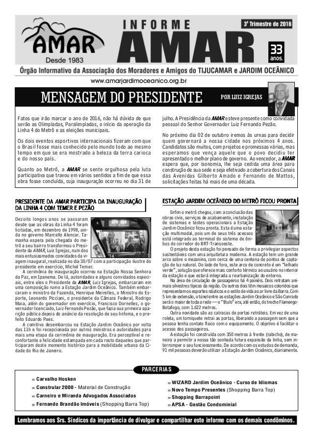 PARCERIAS Carvalho Hosken Constrular 2000 - Material de Construção Carneiro e Miranda Advogados Associados Fernando Brandã...