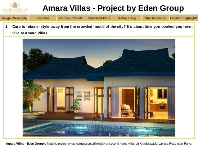 Residential villas in varasgaon pune for sale Amara homes