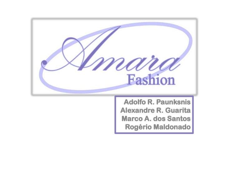 Adolfo R. PaunksnisAlexandre R. GuaritaMarco A. dos Santos Rogério Maldonado<br />
