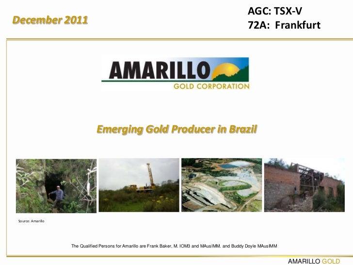 AGC: TSX-VDecember 2011                                                                                         72A: Frank...
