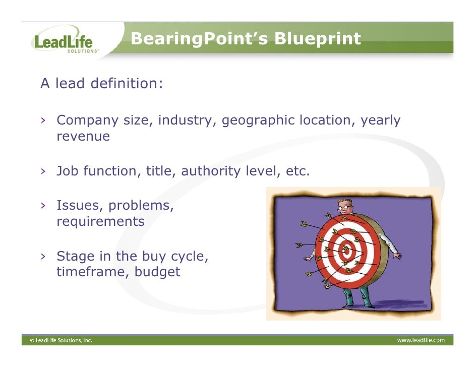A marketers blueprint to successful lead management 10 bearingpoints blueprint malvernweather