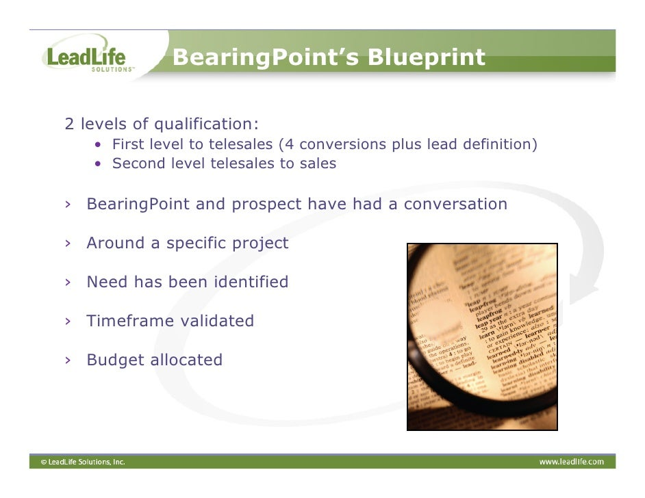 A marketers blueprint to successful lead management 13 bearingpoints blueprint malvernweather