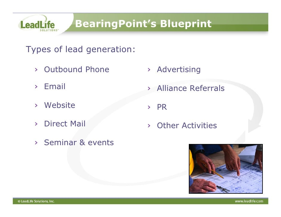 A marketers blueprint to successful lead management 16 bearingpoints blueprint malvernweather Gallery