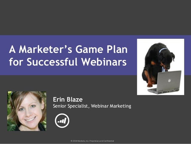 A Marketer's Game Plan for Successful Webinars