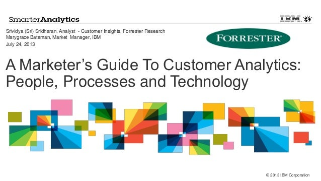 © 2013 IBM Corporation A Marketer's Guide To Customer Analytics: People, Processes and Technology Srividya (Sri) Sridharan...
