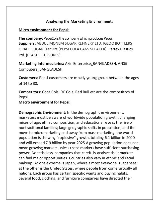4ps analysis of pepsi and coca cola