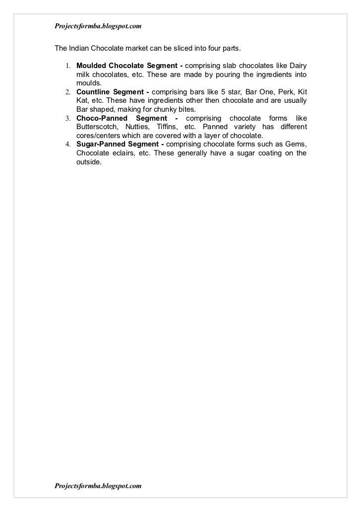 A marketing project report on nestle vs cadbury Slide 2
