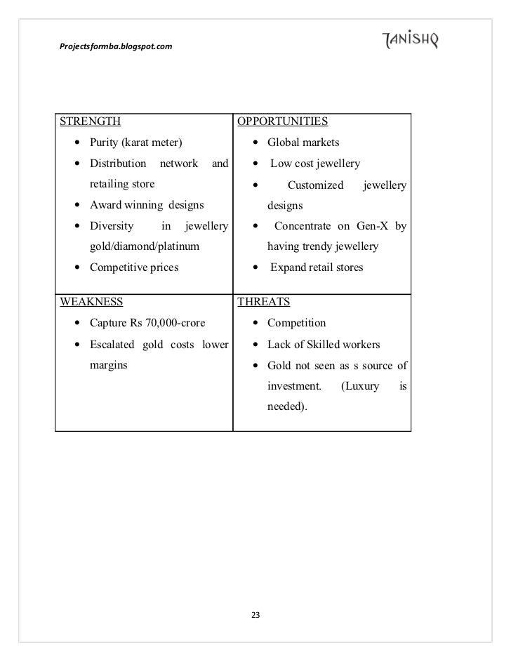 Tanishq marketing report essay