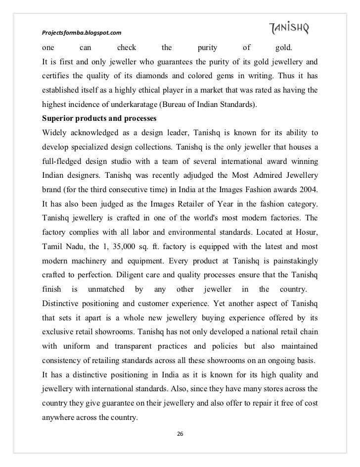 tanishq marketing report This is a research report on a marketing project report on tanishq by harsh khare in marketing category search and upload all types of a marketing project report on.