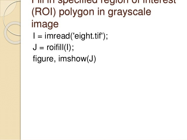 Image Processing Using MATLAB