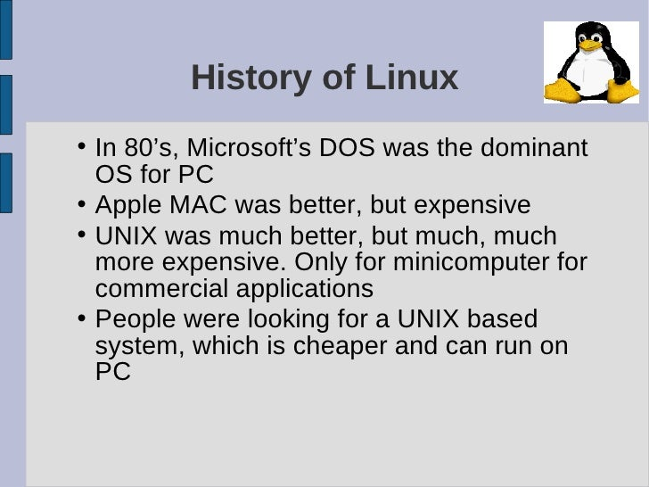 a comparison of the operating system of microsoft dos with unix Minix was a unix-like operating system created for educational purposes,  microsoft's dos became the most successful dos of them all.