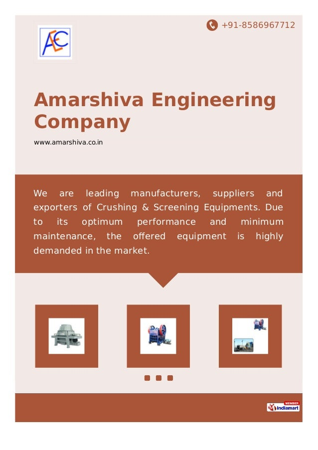 +91-8586967712 Amarshiva Engineering Company www.amarshiva.co.in We are leading manufacturers, suppliers and exporters of ...