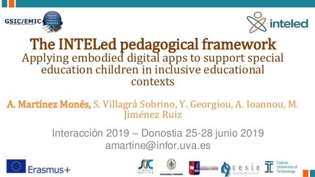 The INTELed pedagogical framework Applying embodied digital apps to support special education children in inclusive educat...