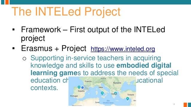 The INTELed pedagogical framework.  Slide 2